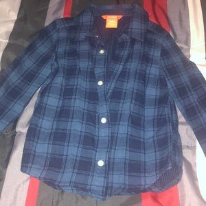 Joe Fresh boys blue plaid button down sz 4T